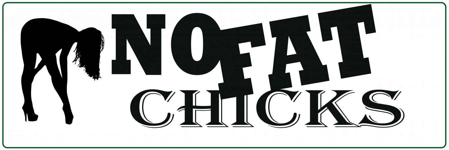 NO FAT CHICKS Sticker 150x50 mm | NO_FAT_CHICKS.jpg