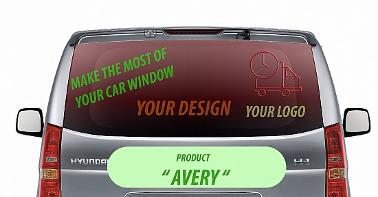 AVERY - One way VISION CAR 145x65 cm
