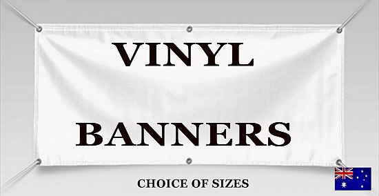 Custom Outdoor Vinyl Banner/PVC single sided print 670gsm choice of sizes from 600x1200 mm