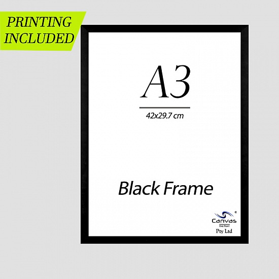 Black Picture Frame for A3 Artwork 42cm x 29.7 cm