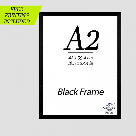 Black Picture Frame for A2 Artwork 42cm x 59.4 cm